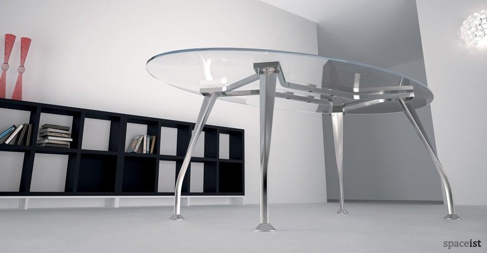 segno glass oval executive desks