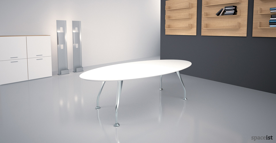 segno white executive desks