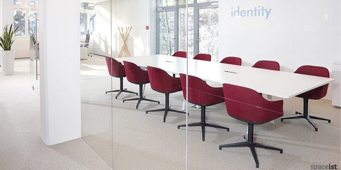 shell red boardroom chairs