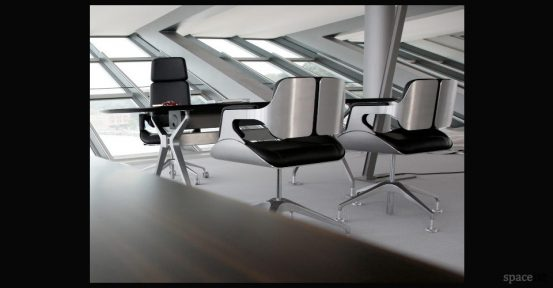 silver leather aluminium chairs high back