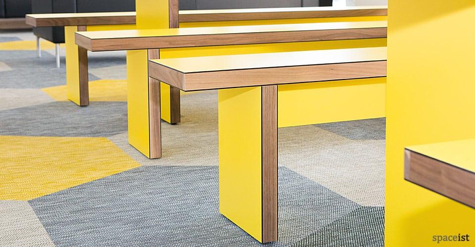 sir john cass hall long yellow benches