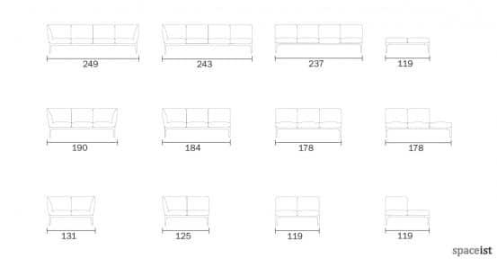 Social modular black reception sofa