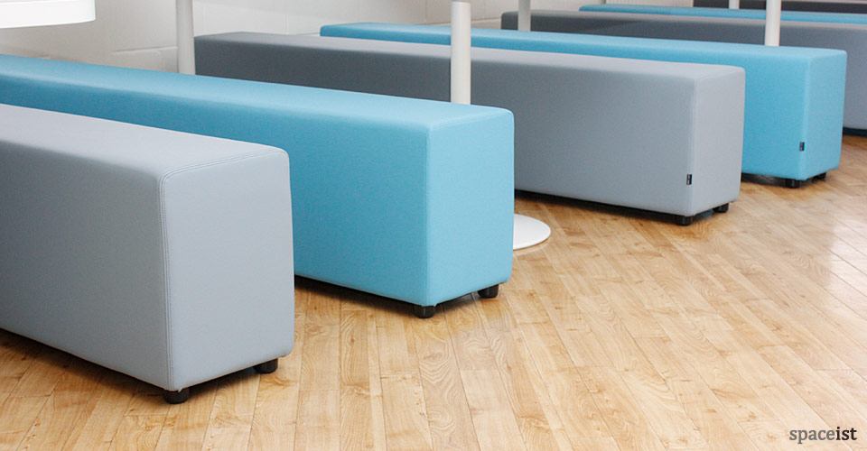Canteen Tables Soft Bench Canteen Set White Base