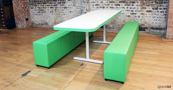 green school canteen table and benches