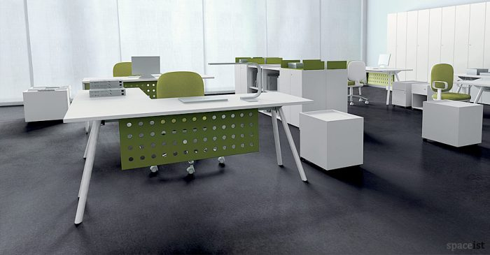 kompany white office desk