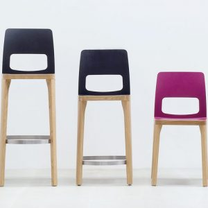 ST6N pink and black bar stools