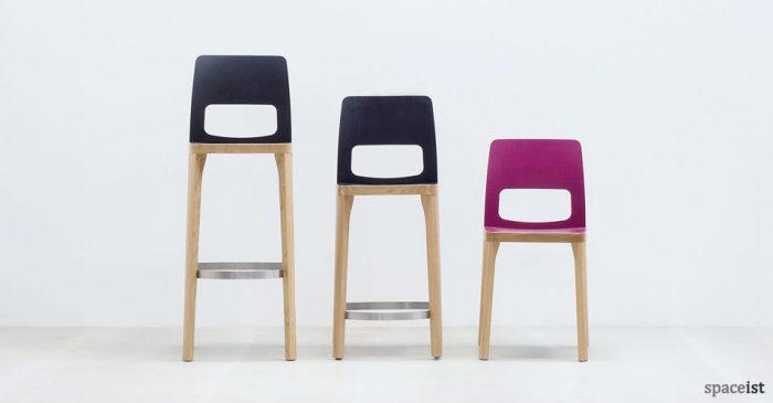 ST6N pink and black bar stools