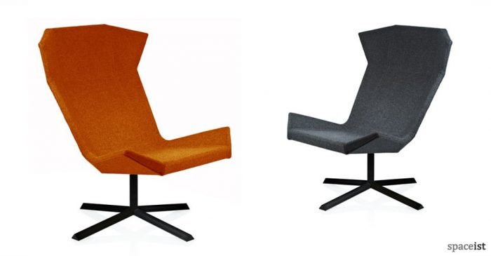 stealth angular reception chairs