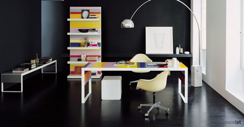 stripes colourful desks