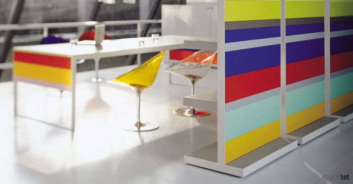 stripes colourful room dividing storage