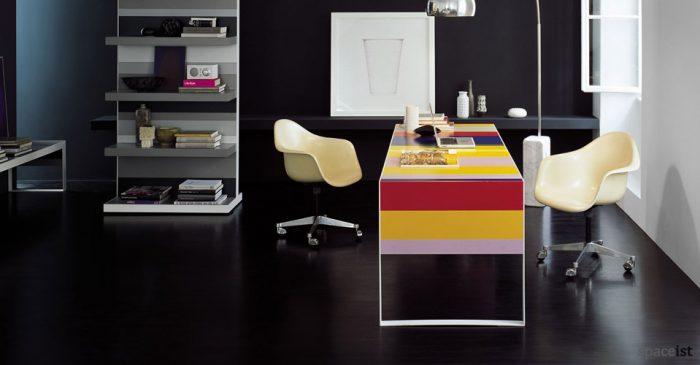 stripes colourful executive desks
