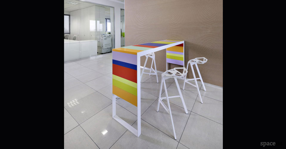 stripes tall stripey colour meeting table