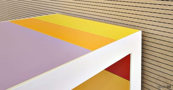 stripes multi colour close up