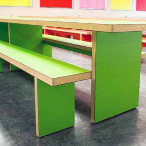 swakelys green canteen tables closeup