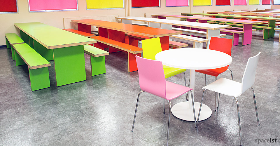 Recent Project Swakleys School Long Colourful Dining