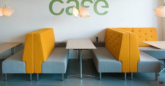 t leg rectangular beech cafe tables