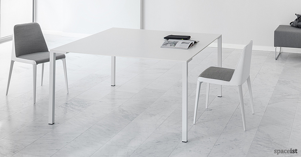 togo square white canteen tables