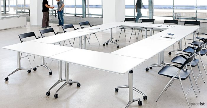 Large rectangular folding meeting table