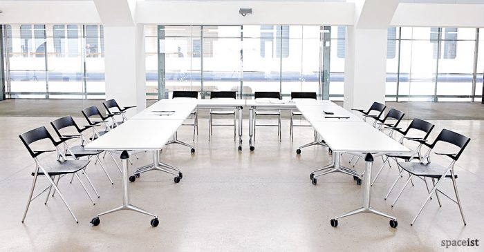 U shaped folding meeting tables