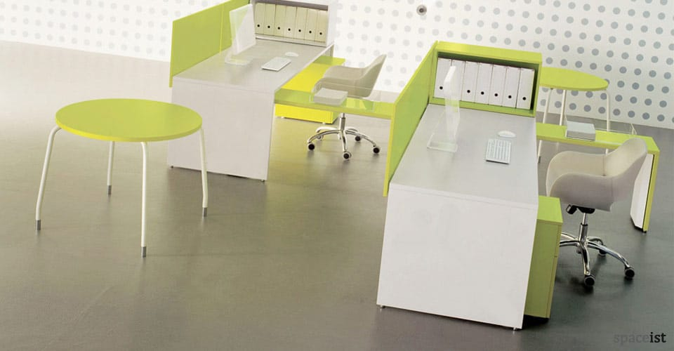 tre lime green desk