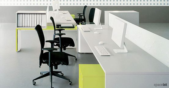 tre four person divided desk