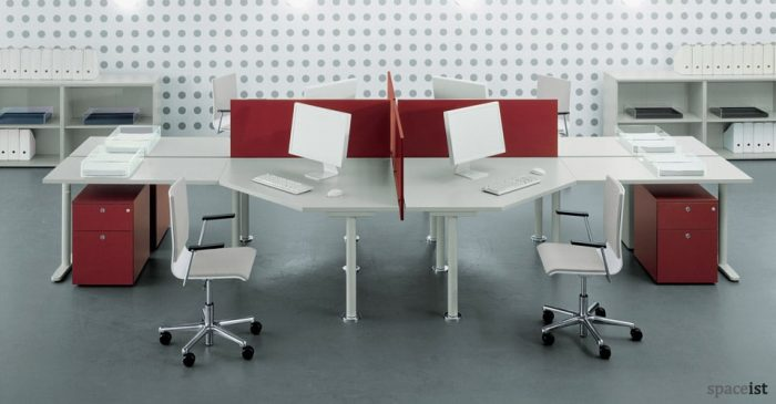 tre red corner desks