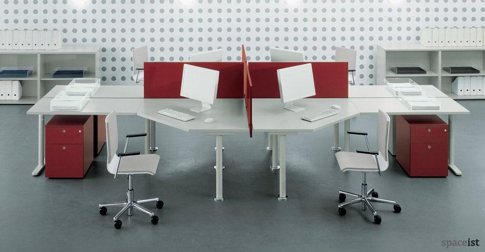 tre red corner desks