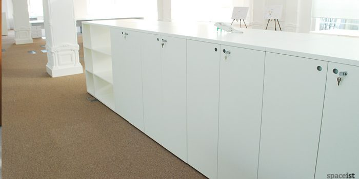 tre white dividing storage