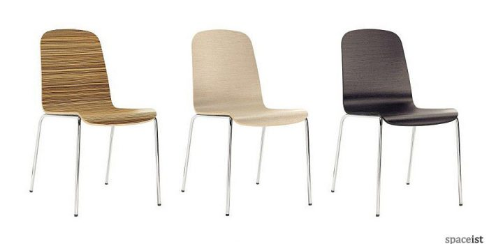trend wood veneer cafe chairs