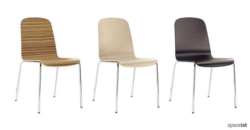 trend wood veneer cafe chairs
