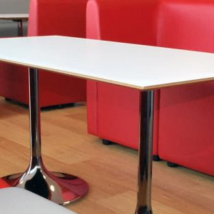trumpet white canteen table