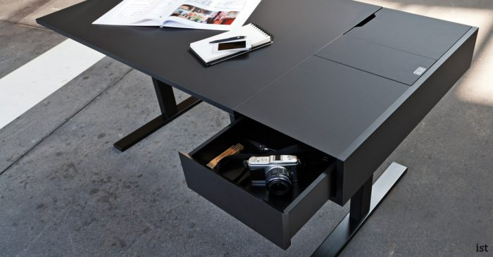 U-desk electrically adjustable standing desk