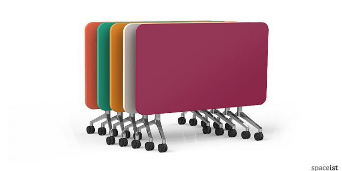 UR colourful stackable wheeled folding table
