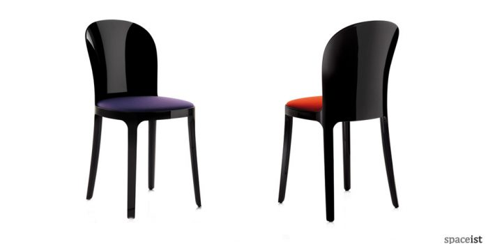vanity plastic chairs black