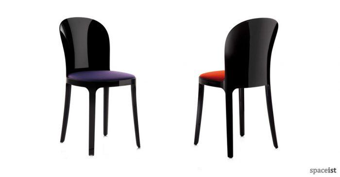 vanity plastic chairs black