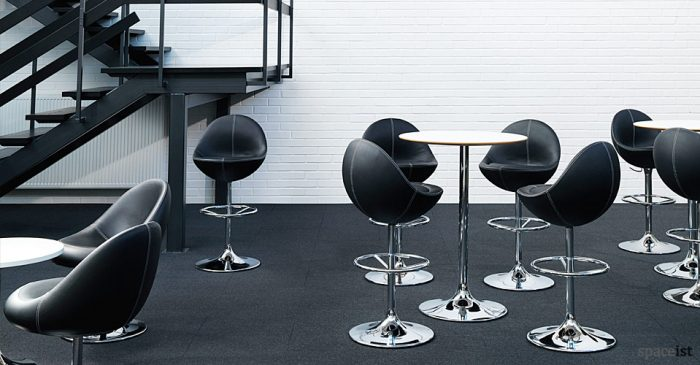 venus black retro egg shaped bar stool