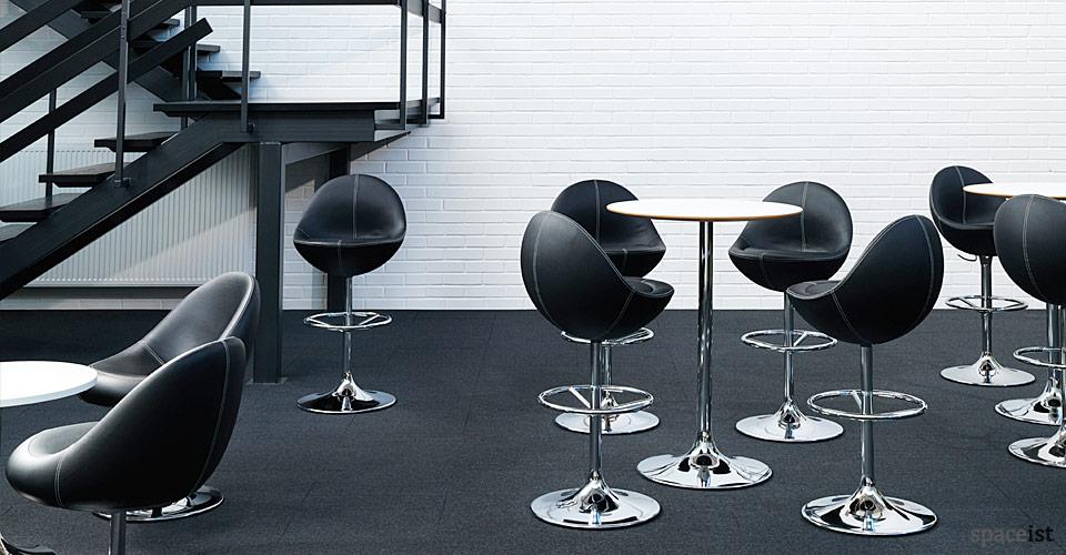 venus black retro egg shaped bar stool