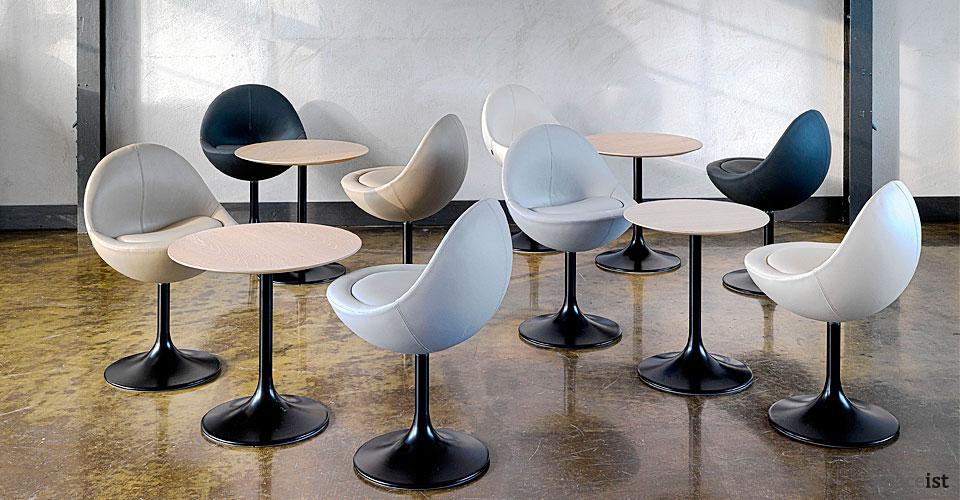 venus egg shape breakout chairs
