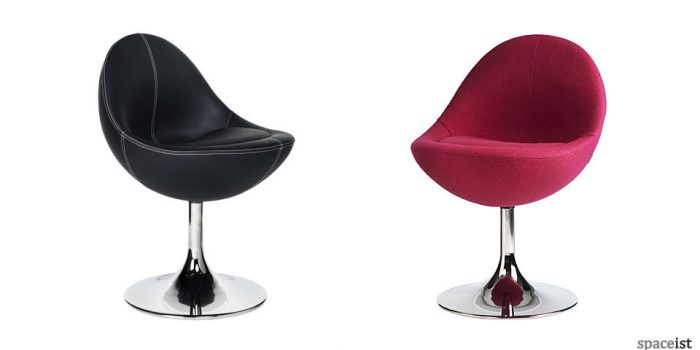 venus pink and black tub chairs