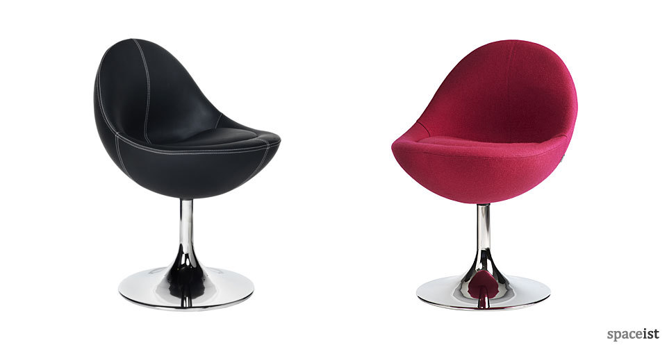 venus pink and black tub chairs