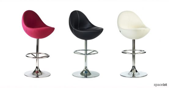 venus pink black and white upholstered bar stools