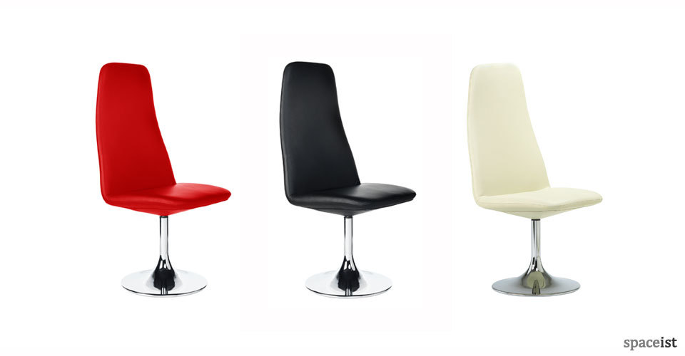 viggen white black red leather meeting chairs