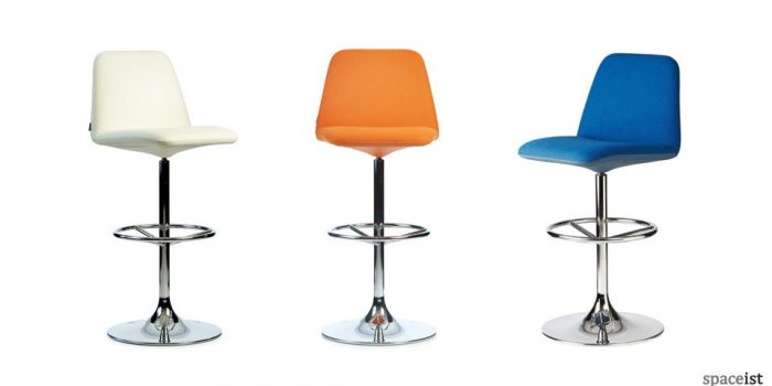 vinga orange blue bar stools