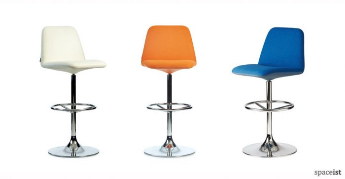 vinga orange blue bar stools