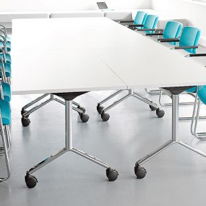 Visual conference folding table