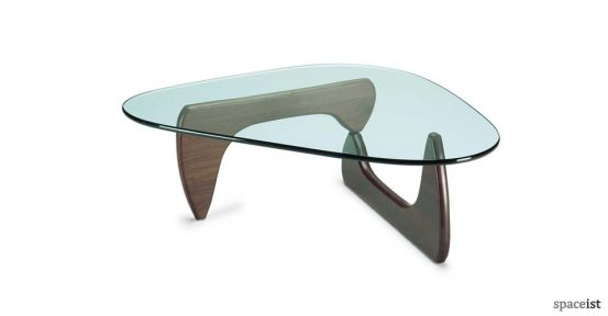 Noguchi walnut coffee table