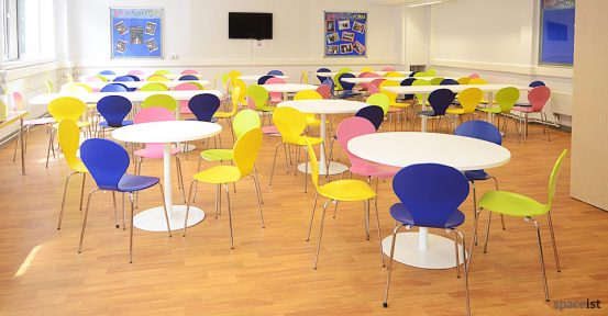 weather head school colourful canteen chairs
