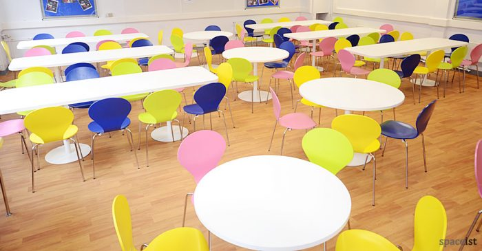 weather head school round canteen tables