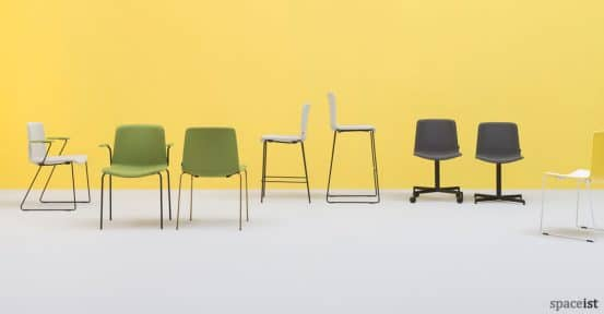 Weet meeting chair and stool range