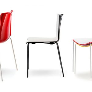 weet red black and yellow cafe chairs with a black leg